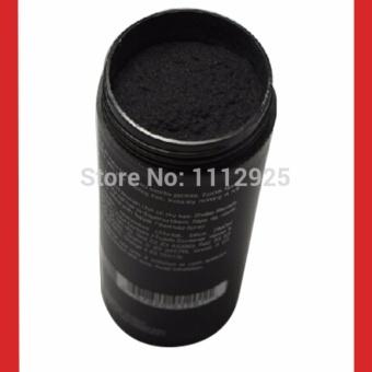 Toppik Hair Fiber (BLACK) Keratin Hair Building Styling Powder Hair Loss Concealer Blender Salon Beauty Makeup Puff 27.5g - 5