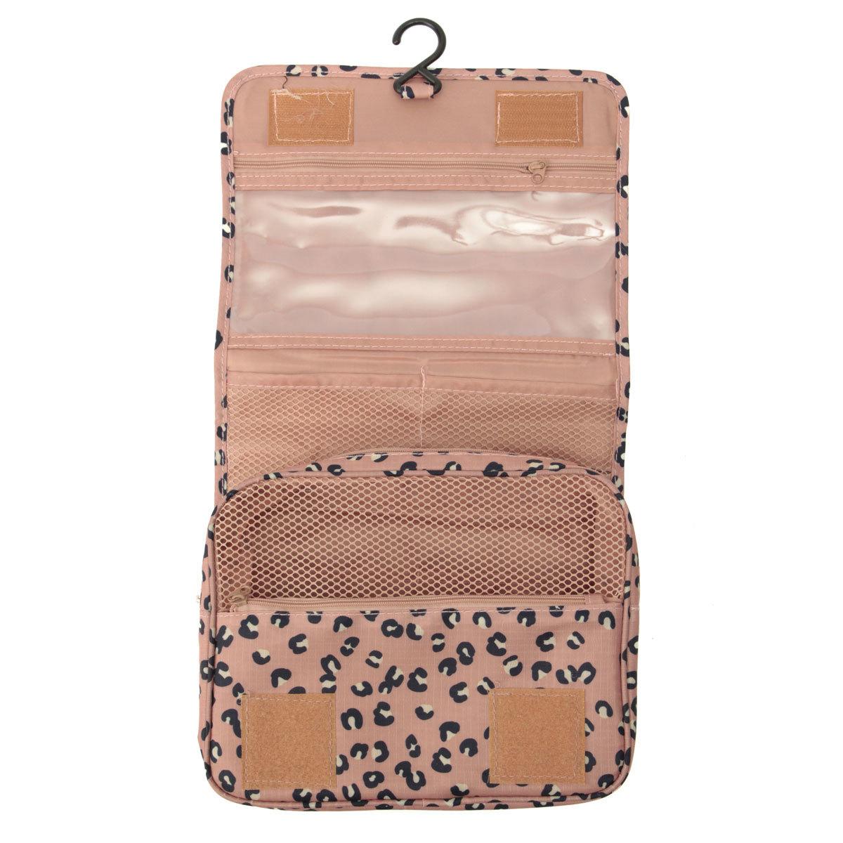 Philippines Travel Folding Wash Toiletry Bag Hanging Women Make Up Cosmetics Organizer Cosmetic Case Pink