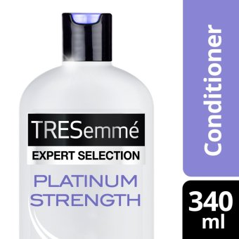 TRESEMME HAIR CONDITIONER PLATINUM STRENGTH 340ML .