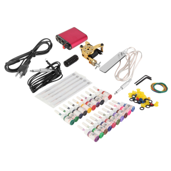 UINN New Tattoo Machines Gun Equipment Power Supply 20 Color Ink Cup Tattoo Set Price Philippines