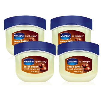 Vaseline Lip Therapy Cocoa Butter Mini 7g, Pack of 4