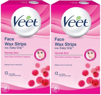 VEET Face Wax Strips with Easy Grip for NORMAL SKIN 12 Strips Setof 2 (13034806) Price Philippines