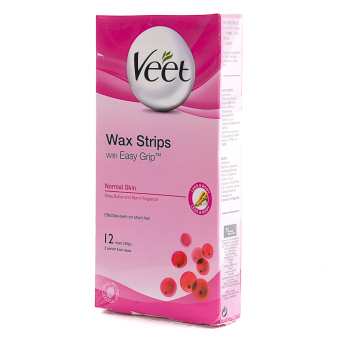 Veet Wax Stips with Easy Grip Shea Butter and Berry Fragrance -12Wax Strips Price Philippines