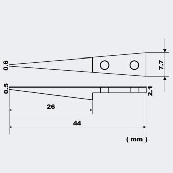 Vetus ESD 259 Stainless Handle Tweezers,Cleanroom tweezers ESD 259 High precise tweezers (Stainless) 12.8 cm - 5