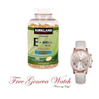 Vitamin E 400 I.U. with Free 1pc Geneva Leather Watch (Color MayVary)
