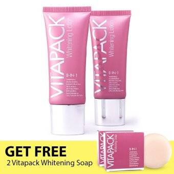 VITAPACK Whitening Lotion Set of 2 with FREE Whitening Soap