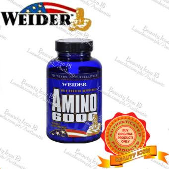 Weider Amino 6000 Milk Protein Supplement, 100 Capsules