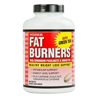 Weider Fat Burner with Chromium Picolinate and Green Tea Tablet, Bottle of 300 Price Philippines