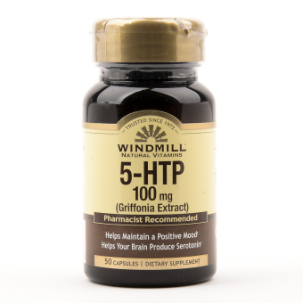 Windmill 5-HTP 100 mg 50 Capsules Bottle of 2