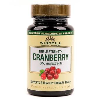 Windmill Cranberry Extract 750mg Capsules Bottle of 30