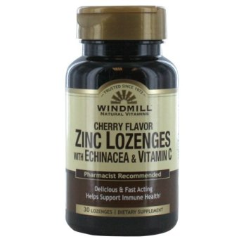 Windmill Zinc Lozenges with Echinacea and Vitamin C Bottle of 30