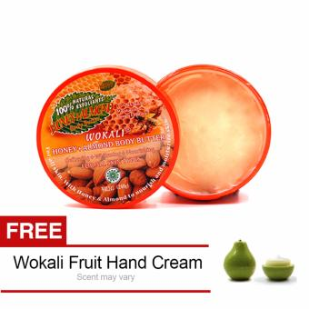 Wokali Honey-Almond Body Butter with free Hand Cream
