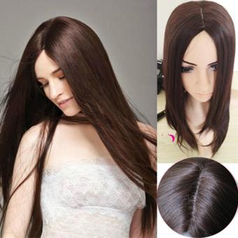 Women Dark Brown Full Long Straight Hair Wig Cosplay Party Wigs Heat Resistant - intl