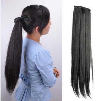 Women Girl Long Straight Ponytail Wigs Hair Hairpiece Extension - intl