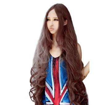 Women Long Curly Wave Hair Wig Lolita Anime Wig Cosplay Hair Wig 100cm - intl