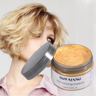 Women Men Disposable Hairstyle Styling Modeling Hair ColoringWax(Gold) - intl