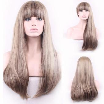 Women Sexy Wig Long Straight Synthetic Fiber Front Wigs - intl