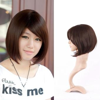 Women Short Wig Cute Synthetic Straight Wig Hair - intl