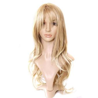 Women's Wig Curly Hair Wigs With Bangs Long Curly Hair Blond Hair - intl