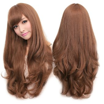 Women's Cosplay Long Natural Curly Big Wavy Wig Extensions