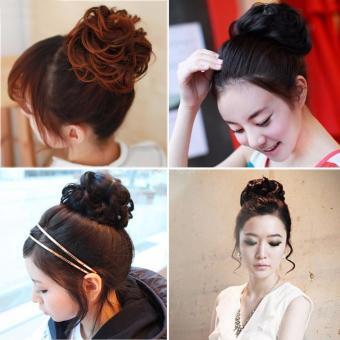 Women's Curly Messy Bun Hair Wig Twirl Piece Scrunchie Wig(Type:2016) - intl - 2