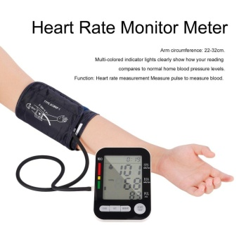 WOND LCD Digital Upper Arm Blood Pressure Monitor USB Rechargeable Sphygmomanometer White - intl