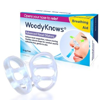 WoodyKnows Nasal Dilators(2nd Gen) Nose Vents Nasal Congestion AntiSnoring Snore relief Nasal Strips Nasal Spray Breathe Right - Intl