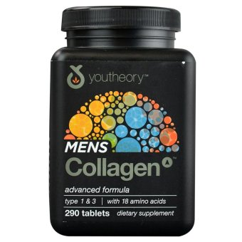 Youtheory Men's Collagen Advanced Formula Dietary Supplement,Bottle of 290