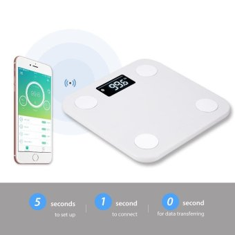 Yunmai mini Smart Scale - Body Fat Scale with Fitness APP and Body Composition Monitor with Extra Large Display, WHITE - intl - 4