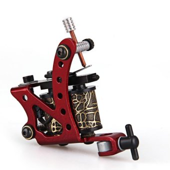 Zinc Alloy Red Tattoo Shader Liner Machine 8 Wrap Coils