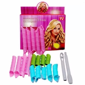 Zover Magic Leverag Hair Styling Roller DIY Magic Circle CurlerLeverag Stick Spiral Curls 18 Piece Set