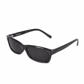 Zover Natural Vision Care Exercise Eye Eyesight Improve GlassesEyeglasses Therapy Eyewear (Black)