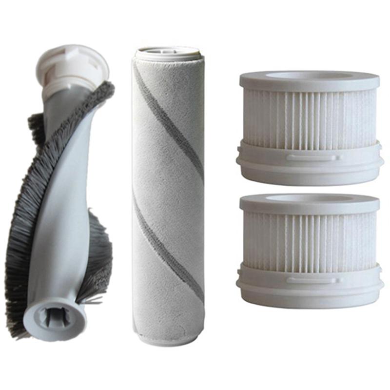 Roller Brush Mite Brush HEPA Filter Robot Sweeper Accessories Replace for Mijia 1C SCWXCQ02ZHM Handheld Vacuum Cleaner