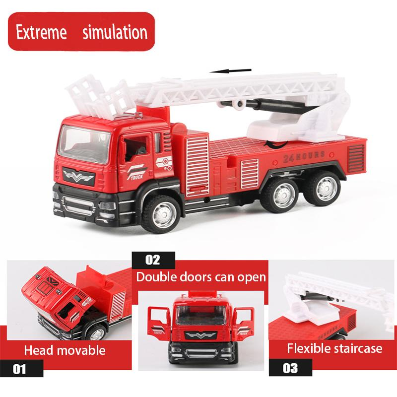 1:52 HIGH SIMULATION ALLOY TOY CAR FIRE TRUCK EARLY CHILDHOOD EDUCATION CAR  MODEL FOR OVER 3 YEAR OLD /BIRTHDAY/FESTIVAL GIFTS