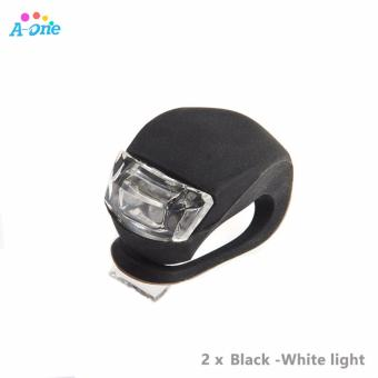 1 Pair Mini Brillant Waterproof Silicone Bike Bicycle Cycling Beetle Warning Light LED Front Light Rear Tail Lamp Frog Lights
