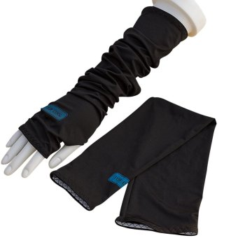 1 Pair of Golf Cycling Arm Sleeves Cooler Hand Cover Sun ProtectionUnisex Black - Intl