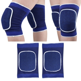 1 Pair Sponge Knee Wrap Support Elastic Brace BPatella Knee Pad Protective Band (Blue) - picture 2