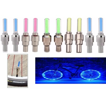 10 Pcs Colors Bike Bicycle BMX Car Wheel Tyre Valve Cap Spoke NeonLED Light Price Philippines