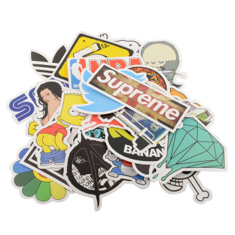 100 Pieces Stickers Skateboard Vintage Graffiti Laptop LuggageDecals mix - intl