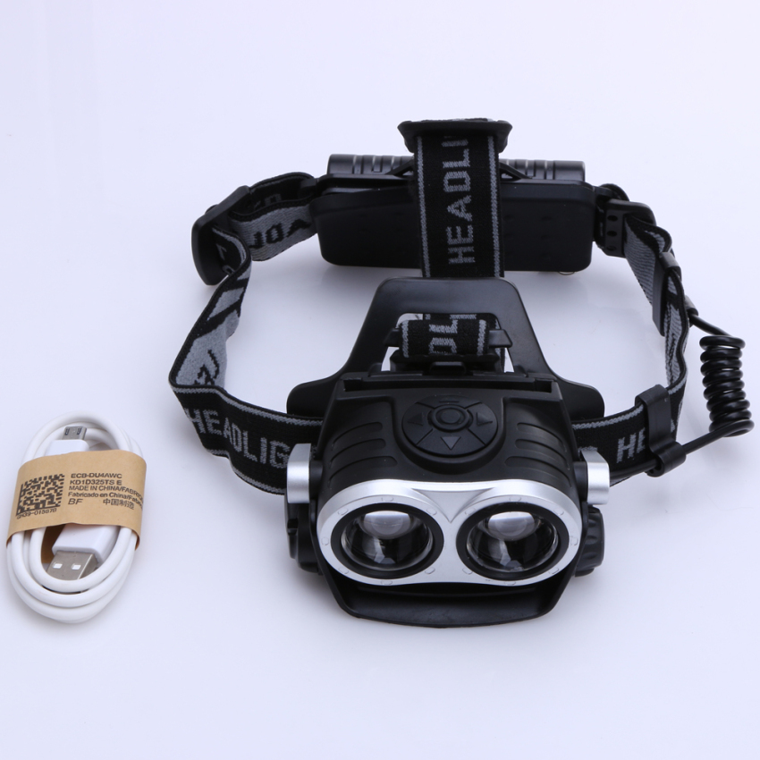10000Lm 2x T6 LED Rechargeable Zoom 18650 Headlamp Headlight Torch USB - 3