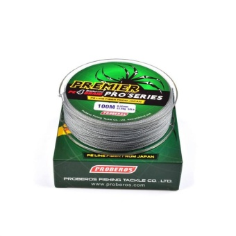 100M/110yards Super Strong PE 4stands Braided Fishing Line 20LBGrey - intl