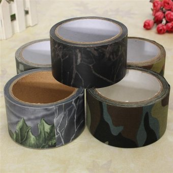 10M Outdoor Waterproof Camouflage Bionic Forest Camo Stealth Duct Tape - intl