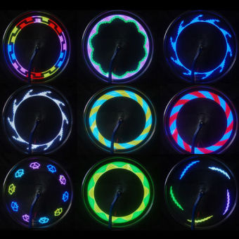 14 LED Motorcycle Cycling Bicycle Bike Wheel Signal Spoke Light Useful