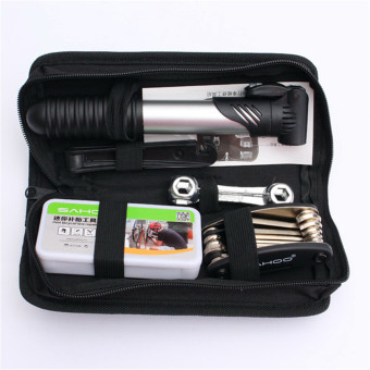 16 in 1 Cycling Bike Cycle Bicycle Tool Kit with Pump Tyre Puncture Repair Set