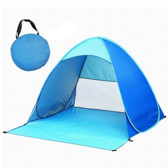 2-3 Person Automatic Pop Up Outdoors Portable Quick Beach Tent SunShelter with Carry Bag (Blue)