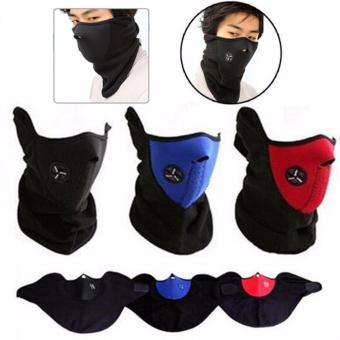 2 Pcs Outdoor Thermal Fleece Half Face Mask Cycling bike MaskWindproof Headwear Motorcycle Face Mask Winter Sports Ski Snowboard- intl