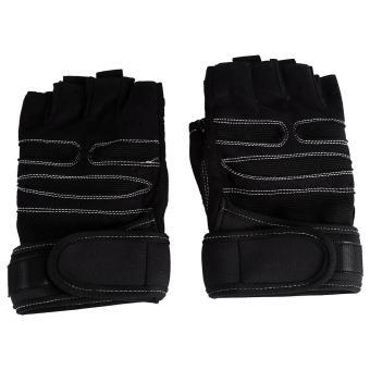 2 Pcs Weight Lifting Gym Training Fitness Gloves(Black/M) - intl - 2