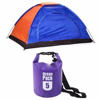 2-Person Dome Camping Tent (Colors may Vary) with Ocean PackWaterproof Floating Dry Bag 5L ideal for Outdoor Sports (Violet) Price Philippines