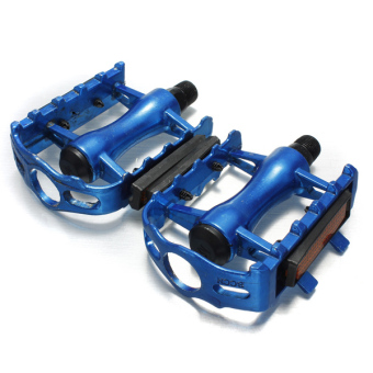 "2 Pieces Road Bike Bicycle Aluminium Alloy 9/16"" Pedal with Light Reflector (Blue)"