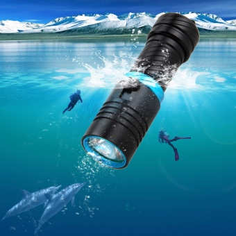 2017 New 3800Lm LED Diving Flashlight CREE XM-T6 Waterproof Dive Underwater 100 Meter Scuba Torch Lamp Light Camping Lanterna With Stepless dimming - intl